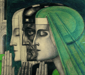 Bezonkenheid, Meditatie, Vuur. Jan Toorop, 1923. Publiek domein