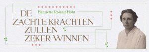 24 november: evenement ter ere van Henriette Roland Holst